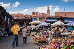 Marrakesh, Morocco - 26 October 2015: Market on the Square Stock Images