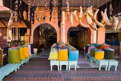 marrakesh morocco shoppar Royaltyfri Bild
