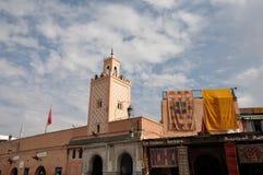 marrakesh moské Arkivbild