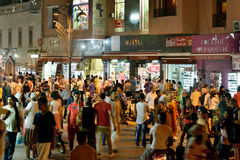 Marrakesh nocą Fotografia Royalty Free