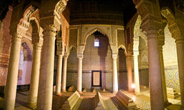 marrakesh saadian tombs royaltyfria bilder