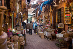 Marrakesh souk Royaltyfri Fotografi
