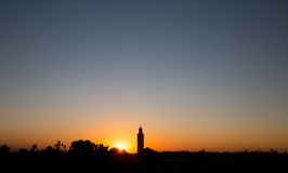 Marrakesh sunset Stock Photo