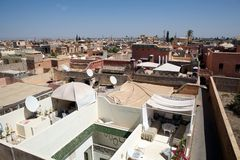 Marrakesh widok Zdjęcia Royalty Free