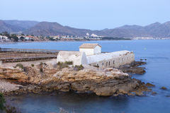 Marrana Baths in Isla Plana, Spain Royalty Free Stock Images