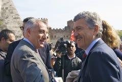 Marrazzo e D'Alema fotografia de stock royalty free