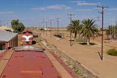 Marree, South Australia. Abandoned train in Marree, South Australia Stock Photo