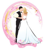 Marriage. Kiss lady love man, celebration, happiness happy healthy married people pretty relationship romantic Stock Photography