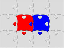 Marriage. Love or marriage concept puzzle illustration Royalty Free Stock Photography