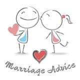 Marriage Advice Means Advisory Weddings And Tenderness. Marriage Advice Showing Find Love And Weddings Royalty Free Stock Photo