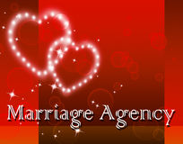 Marriage Agency Means Service Weddings And Companies Stock Photo