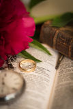 Marriage. Artistic still-life illustrating love, partnership and marriage Royalty Free Stock Photography