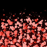 Marriage background with hearts Stock Photo