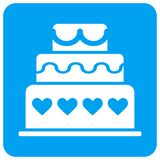 Marriage Cake Rounded Square Raster Icon vector illustration