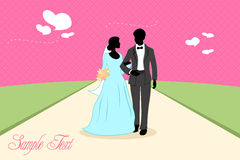 Marriage card Royalty Free Stock Photography