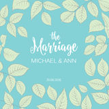 The marriage card Stock Images