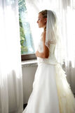 Before marriage ceremony. Girl is waiting for her future husband before marriage ceremony Stock Images