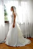 Before marriage ceremony. Girl is waiting for her future husband before marriage ceremony Royalty Free Stock Photos