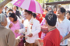 Marriage  ceremony of Thai people in north counrty Stock Photo