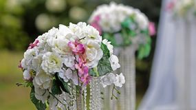 Marriage ceremony wedding decorations Stock Images