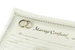 Marriage certificate Royalty Free Stock Photography