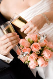 Marriage champagne Stock Images