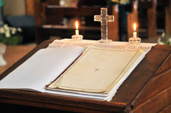 Marriage or christening register Stock Photo