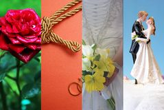 Marriage Collage Stock Photo
