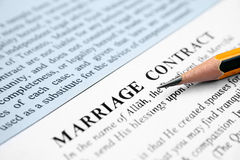 Marriage contract Royalty Free Stock Photos