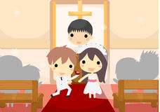 Marriage of couple Royalty Free Stock Image
