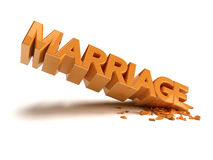 Marriage crash Stock Photography