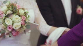 Marriage customs stock footage