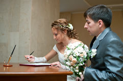 Marriage document Stock Photography
