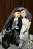 Marriage dolls. Marriage cake dolls in top of the cake Stock Image