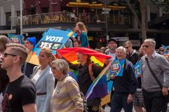 Marriage Equality October 2017. Adelaide, AU - October 22, 2017: Hundreds of supporters of Marriage Equality gather at Adelaide`s Old Parliament House to march Stock Photography
