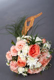 Marriage favours. Bouquet of the bride from beige and white roses Royalty Free Stock Images