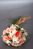 Marriage favours. Bouquet of the bride from beige and white roses Royalty Free Stock Photography