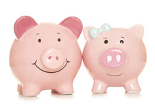 Marriage financial benefits piggy banks Royalty Free Stock Photography