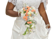 THE MARRIAGE AND THE FLOWER BOUQUET Stock Images