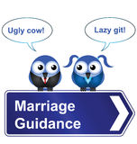 Marriage guidance. Comical marriage guidance sign isolated on white background royalty free illustration