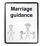 Marriage Guidance Information Sign Royalty Free Stock Photography