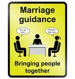 Marriage Guidance Information Sign Stock Images