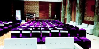 Marriage hall seating interior stock photo stock image