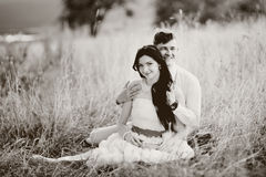 Marriage happiness and love. Newlyweds. Stock Photo