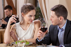 Marriage having dinner in restaurant Royalty Free Stock Photo