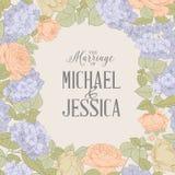 Marriage invitation card. Royalty Free Stock Photo