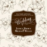 Marriage invitation card Stock Image