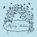 Marriage invitation card Stock Image