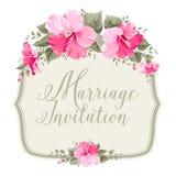 Marriage invitation card Stock Photos