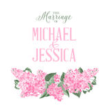 Marriage invitation card Royalty Free Stock Photography